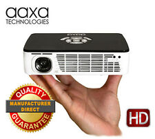 AAXA P300 Pico Home Theater Projector, 400 Lumen, 60-Min Battery, USB, HDMI