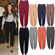 New Ladies Women Full Length Ali Baba Hareem Aladdin Baggy Trousers Pants 8-26