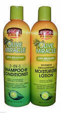African Pride Shampooing & Hydratant Lotion (aide arrêt Ruptures, fourches)