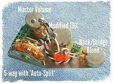 Fender Stratocaster Strat HSS Cableado Kit de actualización-Auto-Split TBX & Mezcla Pot