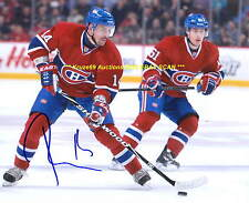 TOMAS PLEKANEC Flying UP ICE Auto 8x10 Photo MONTREAL CANADIENS Star WOW
