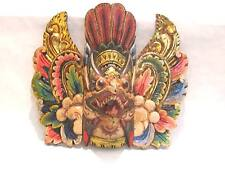 Wooden Garuda Mask Hand Carved Wood Bali Wall Decor Art #944