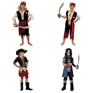 PIRATE GIRL AND BOY FANCY DRESS COSTUMES ALL SIZES