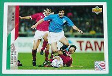 FOOTBALL CARD UPPER DECK 1994 USA 94 GIANLUIGI LENTINI ITALIA ITALIE SQUADRA