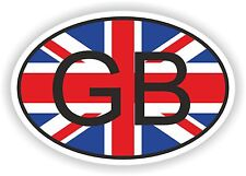 OVAL ENGLISH FLAG WITH GB COUNTRY CODE STICKER GREAT BRITAIN MOTO AUTO TRUCK