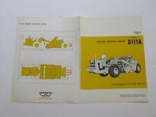 Rare Wabco D111a Tractor Elevating Scraper Sales Brochure 1968