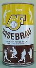 BASE BRAU BEER 1979 Yellow, Brown & White ss CAN Baseball, WISCONSIN Basebrau 1+