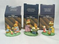 3 Forest Friend Easter Mini Figurine Avon Gift Collection New Home Decor Plastic
