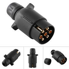 12V 7 Pin Electric Trailer RV Light Plug N-Type 7-Pole Wiring Connector Adapter