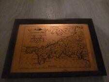 "Vintage Cornuwallia Cornwall Copper Etching Etchmaster Original 9"" x 6"""