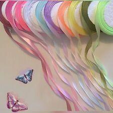Job Lot Mix de 30 Yd (environ 27.43 m) 10 mm W Pastel Couleur Ruban Satin, 10 colourx 3 Yd (environ 2.74 m) #08