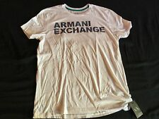 Designer AX Armani Exchange Mens White Muscle Fit XL TShirt New With Tags