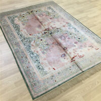 Yilong 5'x7' Vintage hand knotted Classic Rug Antique Handmade Silk Carpets 020B