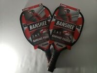 Franklin Sports Wood BANSHEE Deluxe Pickleball Paddle - LOT of 2 !! NEW