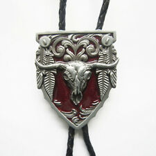 Bolo Tie Necklace also Stock in Us New Vintage Red Long Horn Bull Western