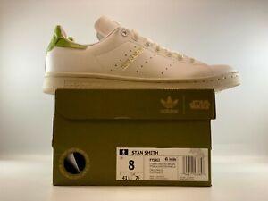 Adidas Originals Stan Smith Star Wars Yoda Mens Shoes Size 8 White/Panton/Brown