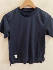 Thom Browne Women's Navy Blue Tee T Shirt size 42 US 2 XS