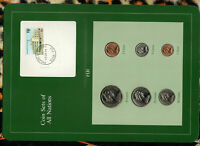 Coin Sets of All Nations Fiji UNC 1, 2, 5, 10, 20, 50 Cents 1982