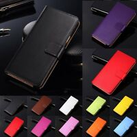 Genuine Leather Wallet Case Flip Stand Cover For HTC One M7