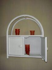 étagère murale Rangement Rotin Ramin fabriqué en Allemagne blanc W 256RB1