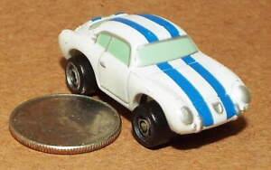 Small Micro Machine Fiat Abrath in White with Blue Stripes
