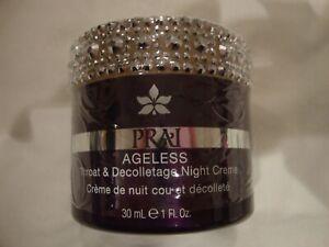 Prai Ageless Throat And Decolletage Night Creme 30ml 1.0 Fl Oz Brand New Sealed