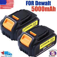2X DCB205-2 For DeWalt 20V 20 Volt Max XR 6.0AH Lithium Ion Battery Pack DCB200