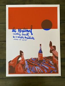 The National Concert Poster St Augustine Amphitheater The Amp LTD ED 70/85