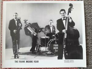 """1 - 10"""" x 8"""" Promo Photo of The Frank Moore Four - Capitol Records - c1959 Jazz"""