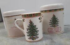 NEW Two Spode Christmas Tree Mugs Coffee Cups