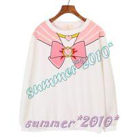 Sailor Moon Chibisa Harajuku Sweater Print Top Cute Kawaii Cosplay Japan Anime
