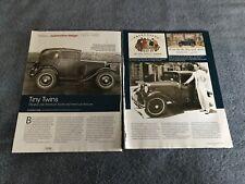 """1929-1940 American Austin & Bantam Vintage Historia Información Artículo"""" Tiny"""