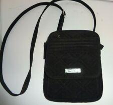 Vera Bradley Black Quilted Cross body Organizer purse