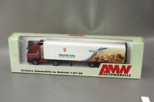 "AMW Scania Sattelzug LKW ""Walter Rau Neusser Öl"" 95721.2 1:87 / H0 OVP NOS AWM"