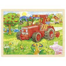 Puzzle Holzpuzzle Einlegepuzzle Traktor 96 Teile Goki 57655