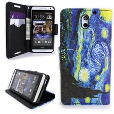 for HTC Desire 610 Wallet Case - Starry Night Design Folio Phone Pouch