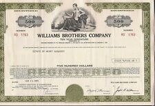 $500 bond Williams Brothers Company 1971