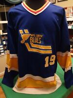 WINNIPEG SOUTH BLUES BLUE GAME WORN USED JERSEY
