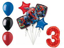 Spider-Man Balloon Bouquet 3rd Birthday Party Supplies Decorations Spiderman