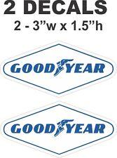 2 Goodyear Good Year Vinyl Decals