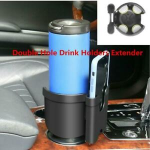 Multifunction Cup Holder Mobile Phone Box Car Double Hole Drink Holders Extender