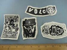 VOLCOM surf snowboard BMX skateboard 2014 4 sticker set ~NEW old stock~MINT~!