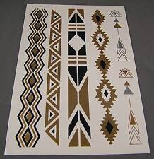 metallic flashy body art jewelry temporary tattoos fancy gold black shimmer