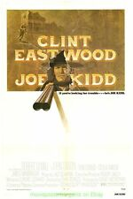 JOE KIDD MOVIE POSTER CLINT EASTWOOD 1972 VG Condition  Folded 27x41 One Sheet
