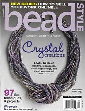 Bead Style magazine Crystal creations Wire work Selling online Pendants Earrings