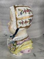 "Early Carl Thieme 9"" Tall Bourbon Bust Circa 1884-1890 Dresden Crown Large"