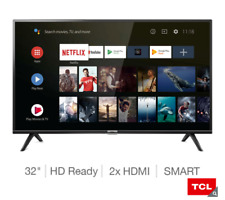 "TCL 32ES568 32"" Android Smart HD Ready HDR LED TV With Google Assistant, Black"