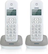 Telefono Cordless Brondi Gala Twin Bianco/Grigio 2 Duo Fisso Casa