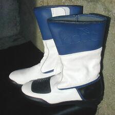 New Ladies Diadora Leather Retro Cafe Racer Style Motorcycle Boots UK 6  EU 39
