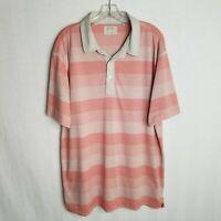 LINKSOUL Tempus Fugit Mens Striped Short Sleeve Golf Polo Shirt Size XL TP616